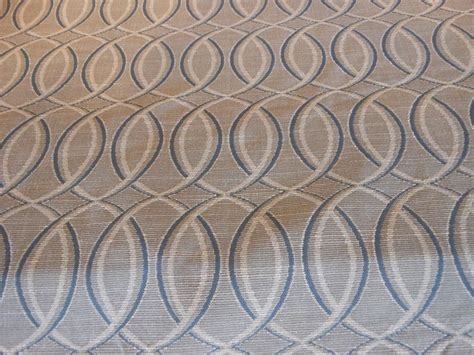 Blue And Gray Upholstery Fabric Eliptical Grey Blue And Geometric Contempary Woven