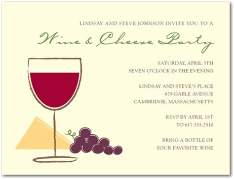 wine and cheese invitation template wine tasting shower