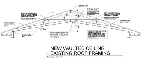 Vaulted Ceiling Construction Details by Modified Rafter And Ceiling Joists For A Remodel Makes A