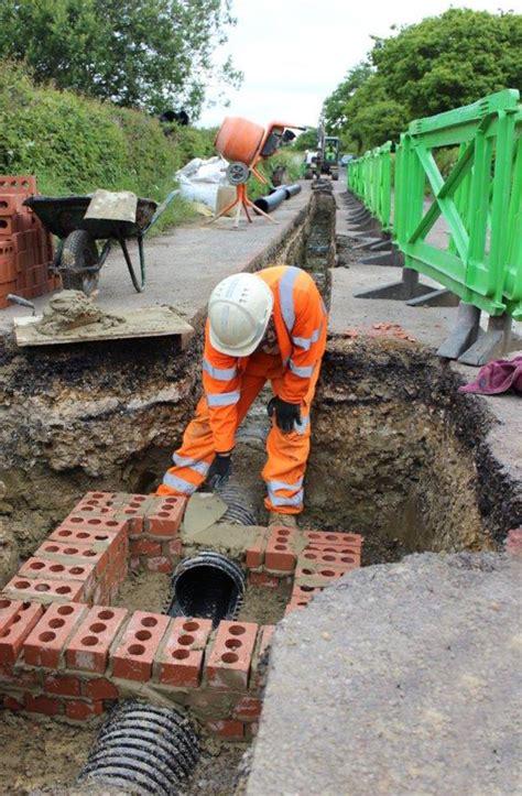 drainage schemes major drainage scheme underway in porchfield island echo