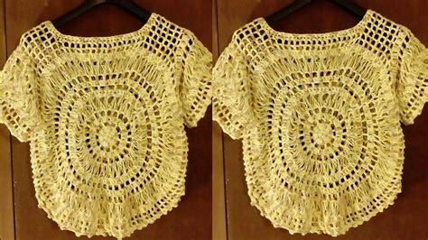 como tejer de gancho blusas como tejer blusas para damas el paso a paso tejidos a