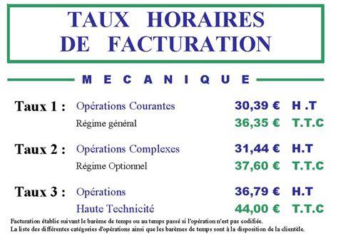 Tarif Horaire Garage Renault taux horaire carrosserie auto