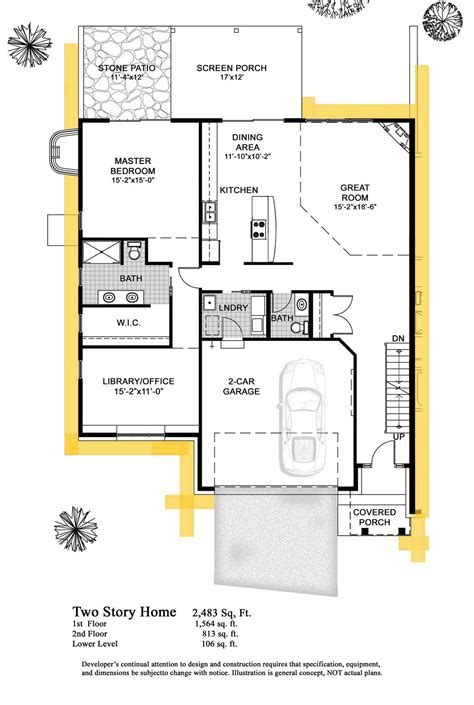 floor plan of two story house