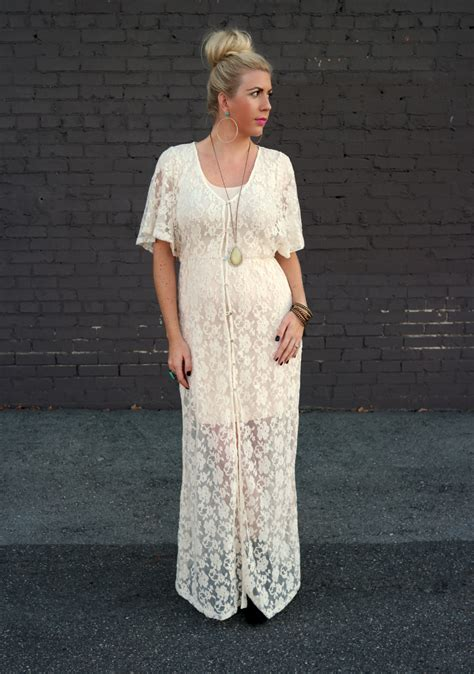Sleeve Buttoned Maxi Dress buttoned lace maxi dress status