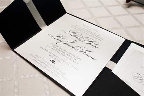 Wedding Invitations Black And White by 1 Black White Wedding Invitation Significant Events Of