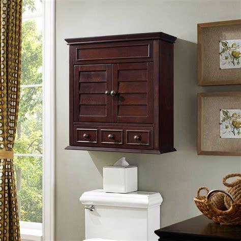 lilliana espresso brown medicine storage bathroom wall cabinet ebay