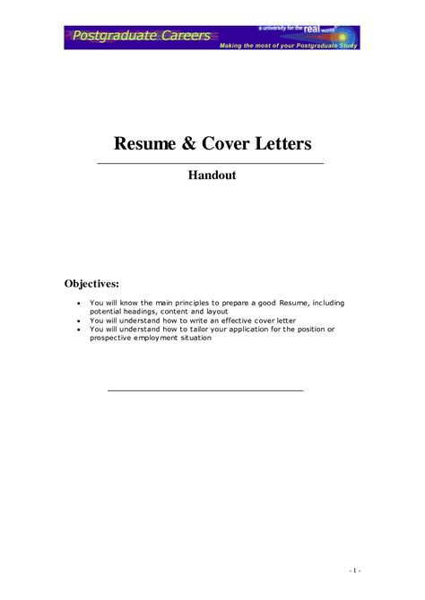 a resume letter commonpence co