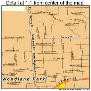 woodland park colorado map 0886090