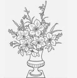 colour drawing free wallpaper flowers vase coloring