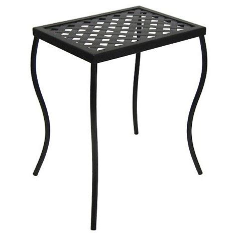 Ally Woven Patio Accent Table Outdoor Woven Metal Accent Table Threshold Metal