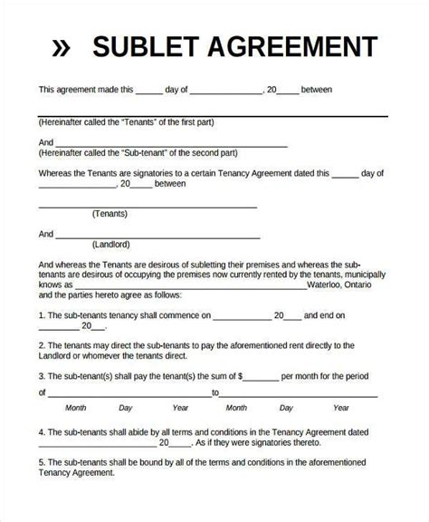 basic agreement form basic agreement residential lease 37 basic agreement