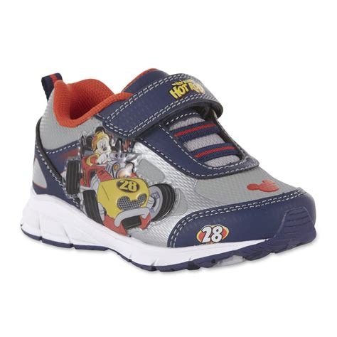 toddler boy athletic shoes disney toddler boys mickey the roadster racers gray