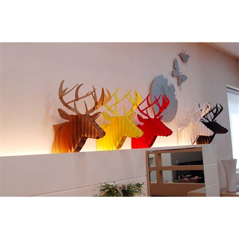 home decor red deer red deer head 3d puzzle jigsaw diy art paper model wall