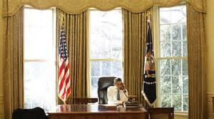 Gold Curtains In The Oval Office President Obama Has Redecorated The Oval Office Middle