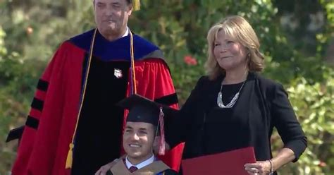 Surprised With Honorary Mba by Takes Notes For Paralyzed So He Could Earn His Mba