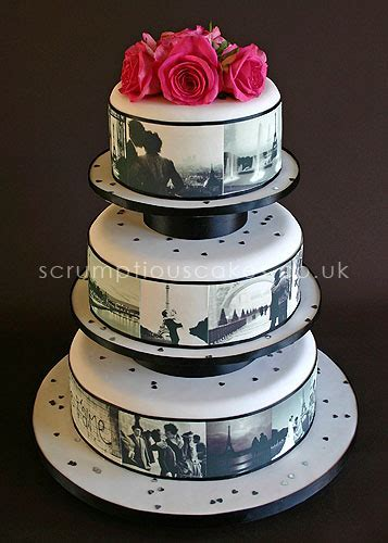 Wedding Cake (461a)   Edible Paris Pictures & Fresh Roses