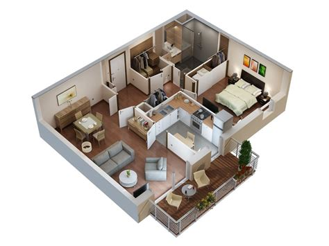 Small 3 Bedroom House Floor Plans by Plans 3d Pour S 233 Niors Studio Multim 233 Dia 3d At Home