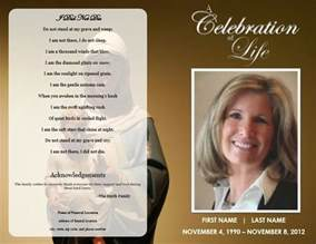 Sle Memorial Service Program Template by The Funeral Memorial Program Free Funeral Program
