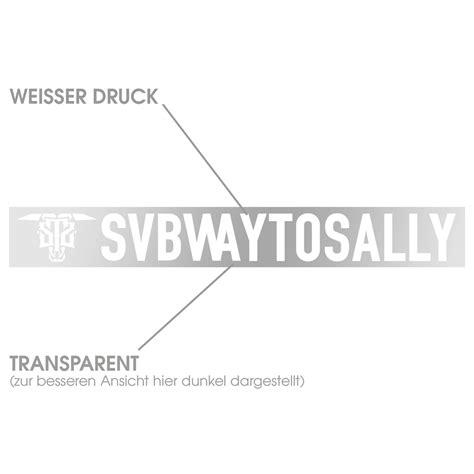 Metal Band Heckscheibenaufkleber by Bravado New Logo Subway To Sally