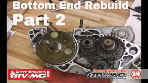 Gear Set Shogun 125cc motorcycle bottom end rebuild part 2 of 3 crank