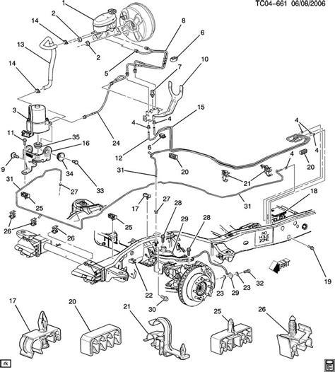 2003 chevy suburban ke lines diagram catalog auto parts