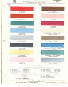paint chips 1957 oldsmobile