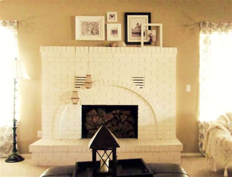 White House Fireplaces by White Brick Fireplace The Wicker House