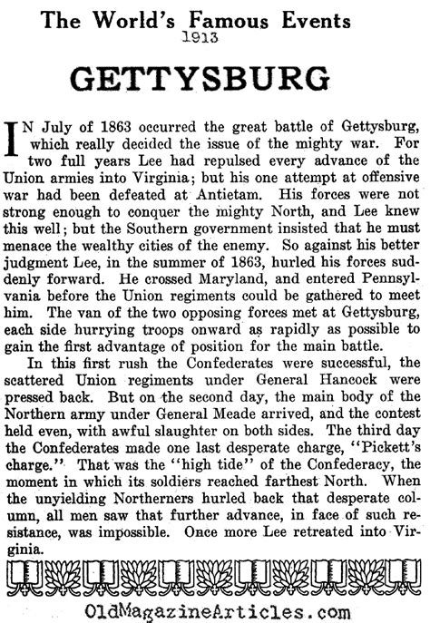 Battle Of Gettysburg Essay by A Practical Course For Developing Writing Skills In