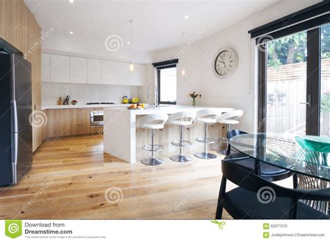 Kitchen Islands Melbourne modern open plan kitchen with island bench stock image