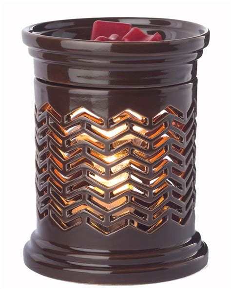 candel warmer chevron illumination fragrance warmer by candle warmers