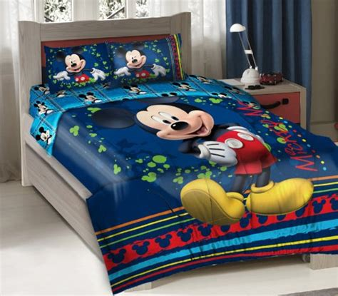 mickey mouse twin bed set cutest mickey mouse bedding for kids and adults too
