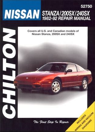 hayes auto repair manual 1992 nissan 240sx electronic valve timing nissan stanza 200sx 240sx repair manual 1982 1992 chilton