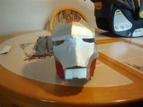 how to make a cardboard iron man helmet