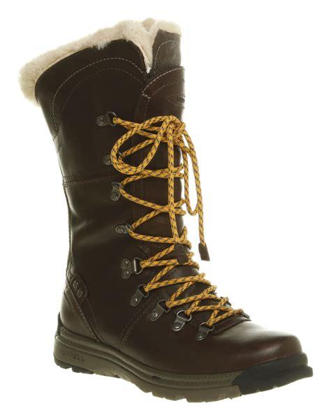 womens merrell natalya waterproof boot brown leather boots