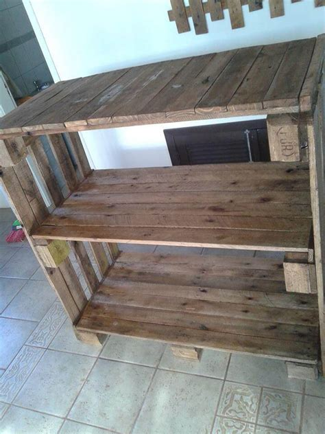Pallet Kitchen Island Pallet Shelves Unit Pallet Console Table