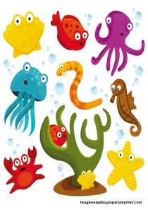 Animales del mar para imprimir imagenes para imprimir dibujos para