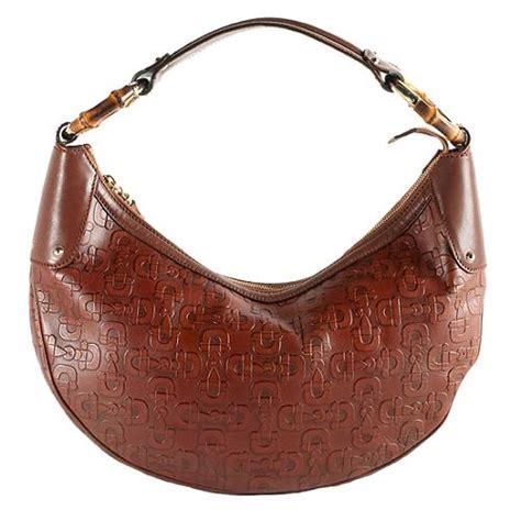 Gucci Bamboo Horsebit Tote by Gucci Horsebit Embossed Leather Bamboo Ring Hobo Handbag