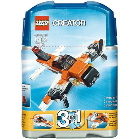 Set 3in1 1 lego creator 5762 mini plane 3 in 1 set sets