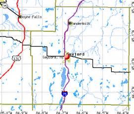 Gaylord Michigan Map by Gaylord Michigan Mi 49735 Profile Population Maps