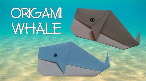 How To Make Paper Whale - origami easy origami whale