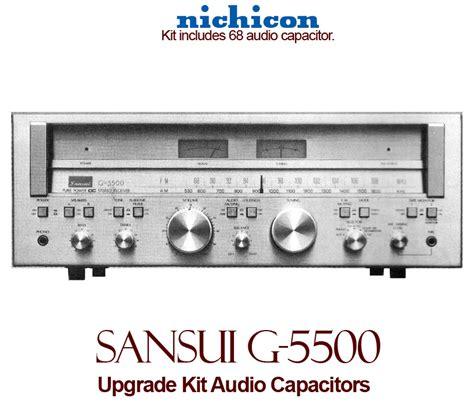 capacitor upgrade sansui g 5500 upgrade kit audio capacitors
