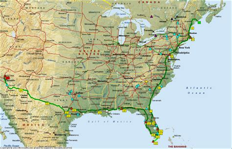 driving map of usa and canada canada east coast road trip map