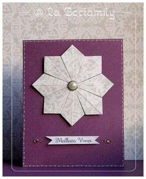 Carte Origami - tuto carte avec etoile en origami la bocfamily