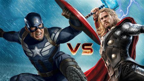film thor captain america captain america vs thor epic superheroes battle the