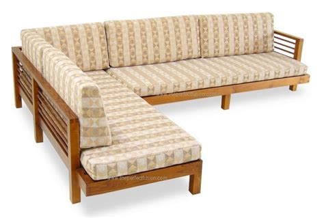 teak sectional sofa teak l shape sofa set