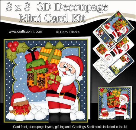 3d Decoupage Kits - 8x8 santa mini kit 3d decoupage cup582519 359