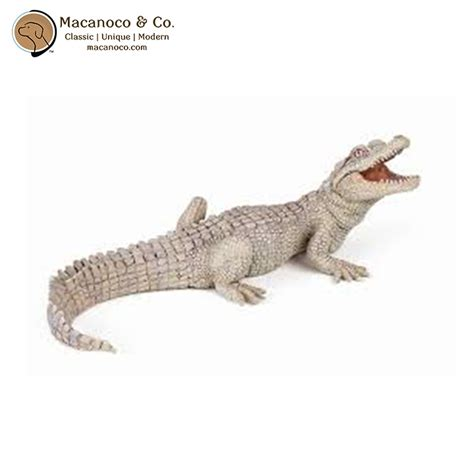 Papo White papo white baby crocodile figurine macanoco and co