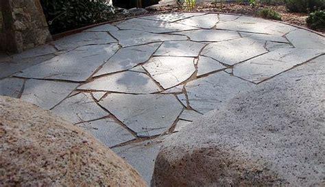 dry set stone patio