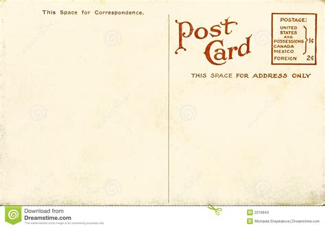 great paper post cards template vintage blank postcard stock image image of paper