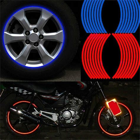 Bicycle Wheel Reflective Sticker Stiker Roda Sepeda Limited new 16 pcs strips wheel stickers and decals 14 quot 17 quot 18